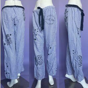 VS PINK Striped Pajama Bottoms